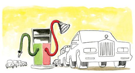 Los pobres y la gasolina